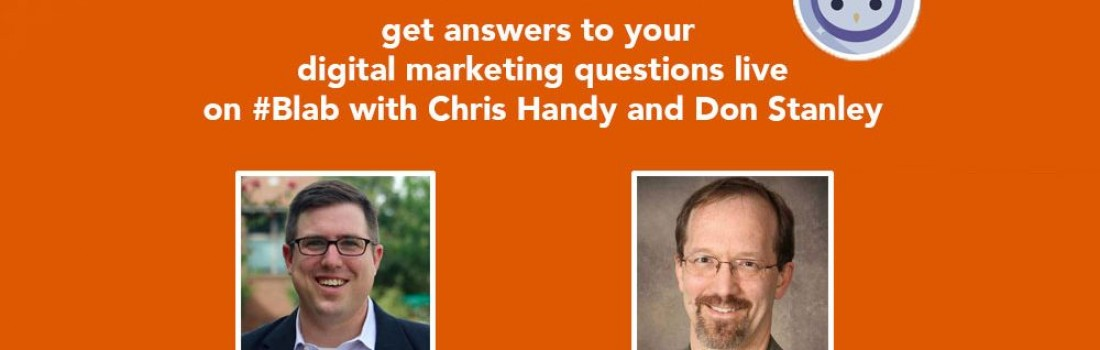 Digital Marketing Advice #PickOurBrains Show with @HandyThinks @3RhinoMedia