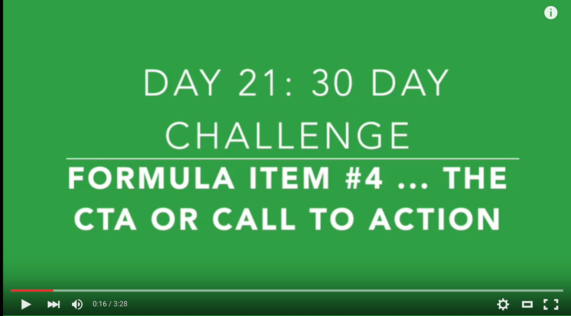 Day 21: The 4th Ingredient: The CTA or Call-To-Action for Your Short Form Video